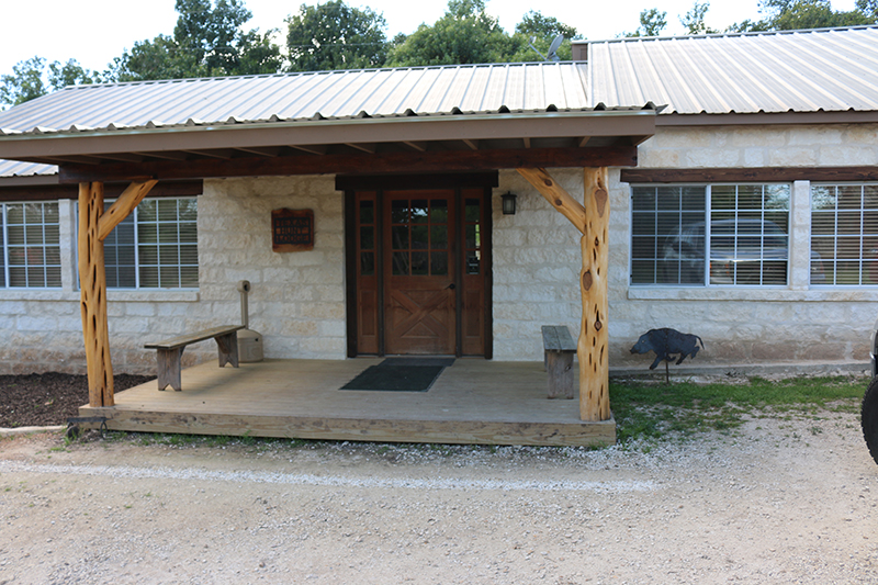 Texas Hunt Lodge Checkin Porch